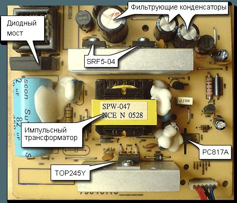 Как сделать блок питания на мониторе